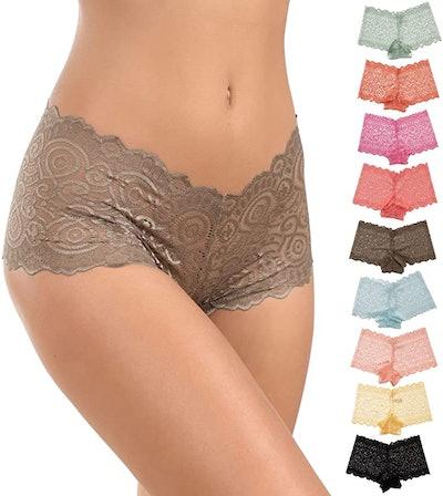 Alyce Intimates Lace Boyshort Panties (10-Pack)