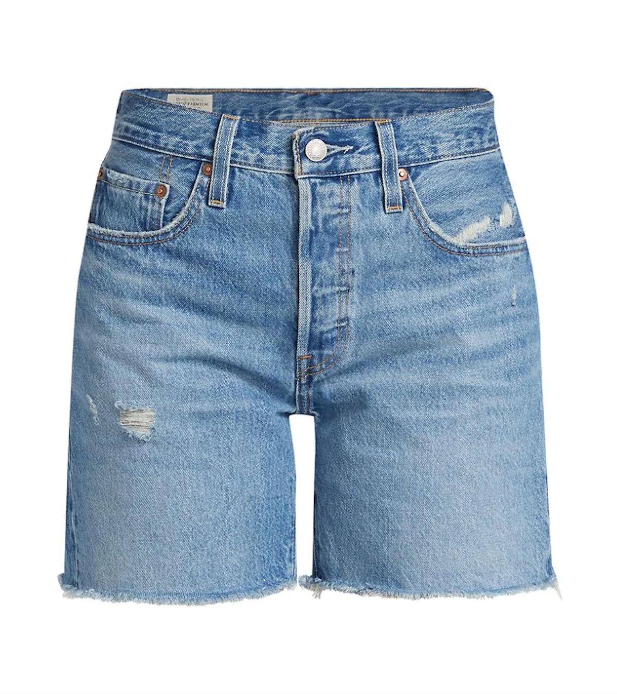 Levi's 501 Mid-Thigh Denim Shorts.