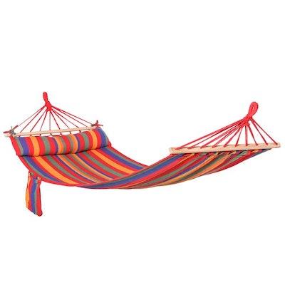 Cotton Hammock Soft Portable Swing Sleeping - Rainbow Stripes