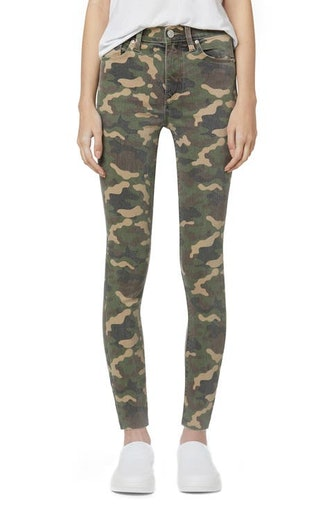 Barbara High Waist Camo Raw Hem Ankle Skinny Jeans from Hudson Jeans, available on Nordstrom's Anniv...