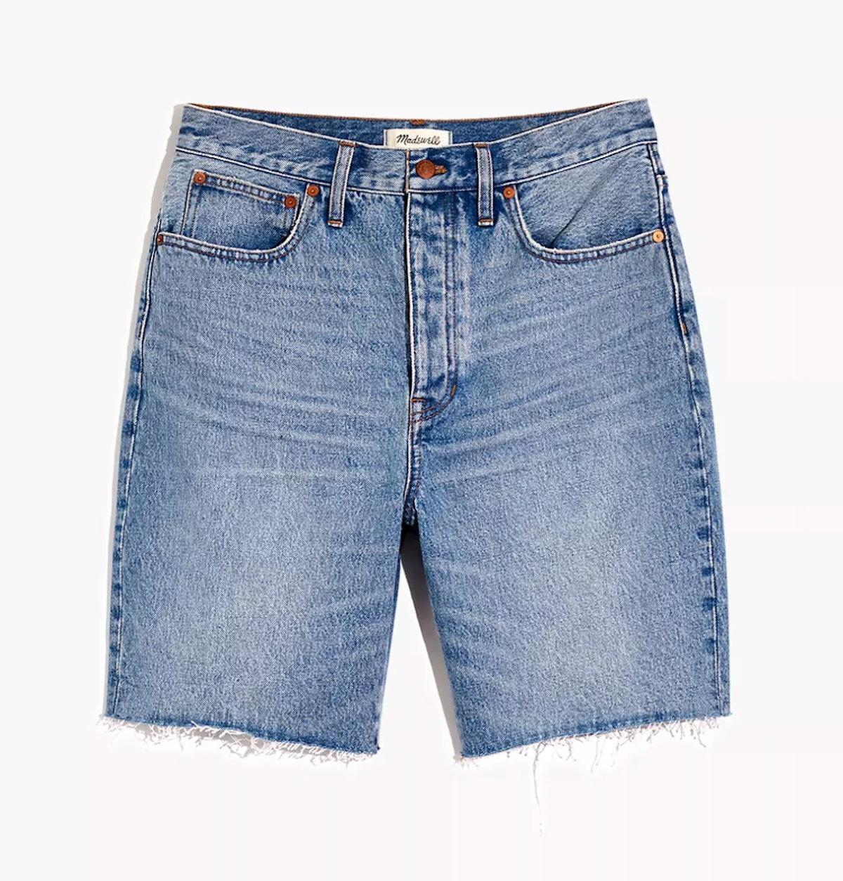 Madewell's baggy denim bermuda shorts.