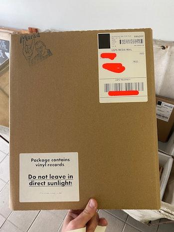 Joyful Noise vinyl record shipment warning label