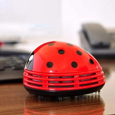 E ECSEM Cute Portable Cartoon Mini Desktop Vacuum