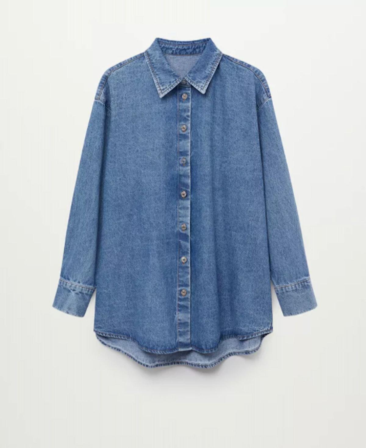 Oversize Denim Shirt In Medium Blue