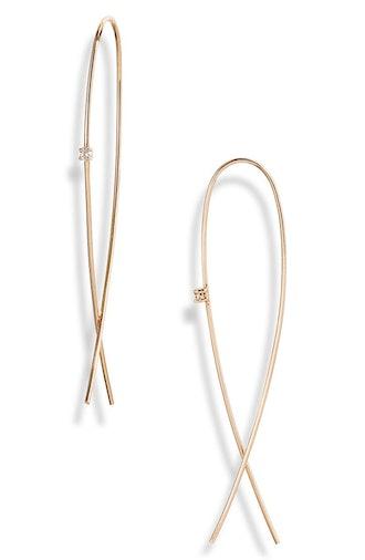 Medium Upside Down Diamond Hoop Earrings from Lana Jewelry, available on Nordstrom's Anniversary Sal...