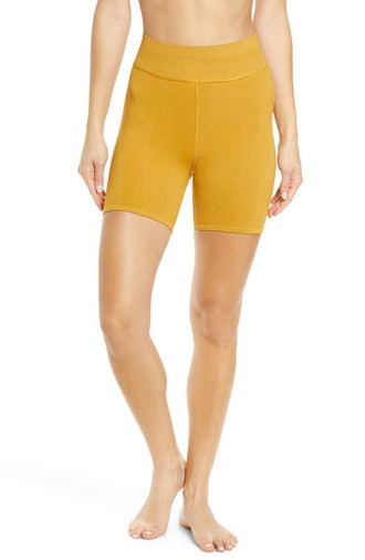 Let's Go seamless bike shorts in Turmeric from Free People Movement, available on Nordstrom's Annive...