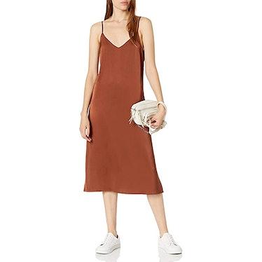 The Drop Ana Silky Midi Slip Dress