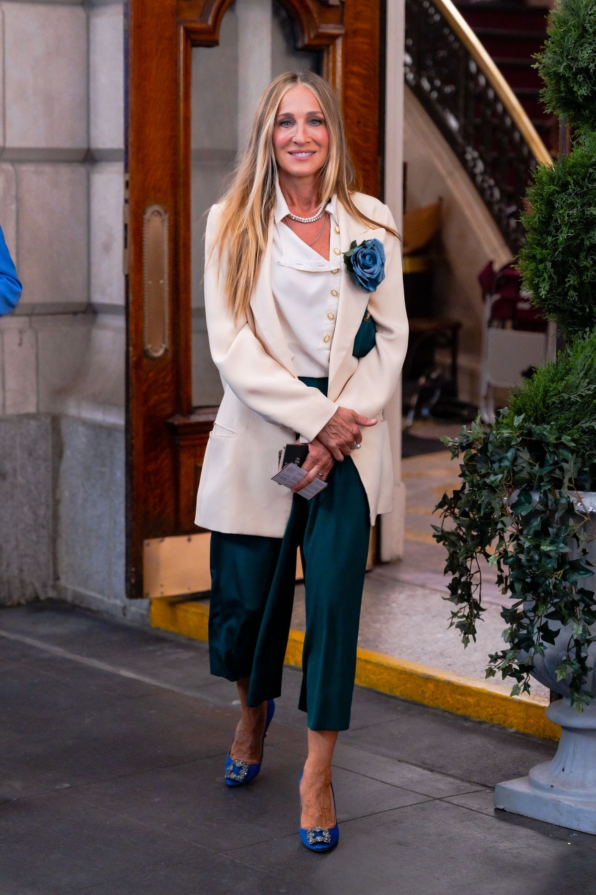 Sarah Jessica Parker as Carrie Bradshaw on the set of 'And Just Like That'