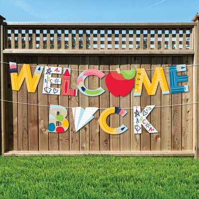 Back to School - Large First Day of School Classroom Decorations - Welcome Back - Outdoor Letter Ban...