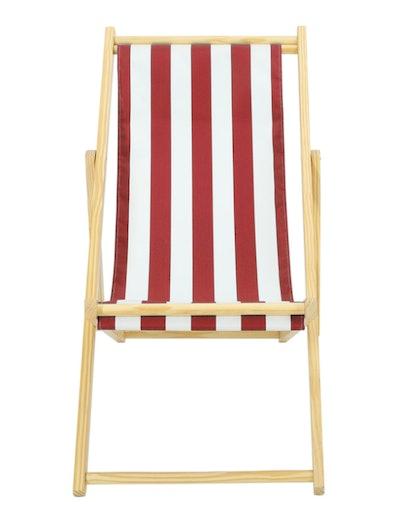 Stripe Folding Beach Chair - Red