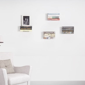 STORAGE MANIAC Invisible Floating Bookshelves (4-Pack)
