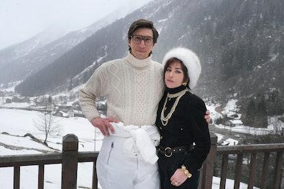 Adam Driver (Maurizio Gucci) and Lady Gaga (Patrizia Reggiani) in 'House of Gucci'