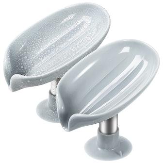 YUOROS Self Draining Soap Dish (2-Pack)