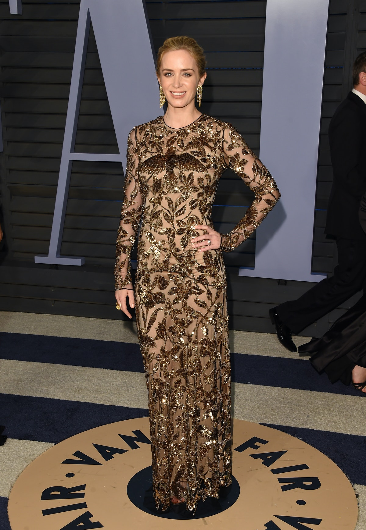 Emily Blunt in Gold.