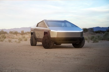 Tesla Cybertruck ready for action.