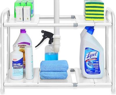 Simple Houseware Under Sink 2 Tier Expandable Shelf