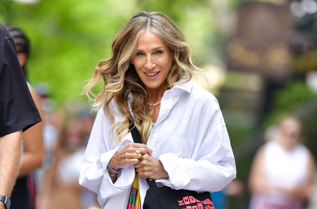Sarah Jessica Parker with curly hair