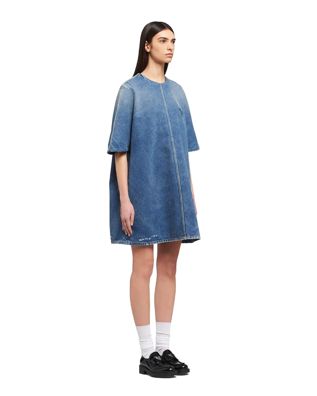 Organic Denim Mini-Dress