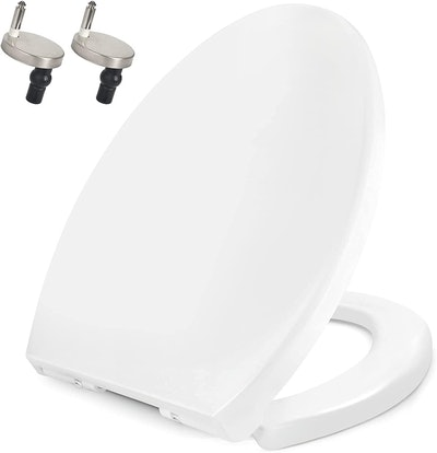 Toilet Seat Elongated Soft Close with Quick Release Hinges