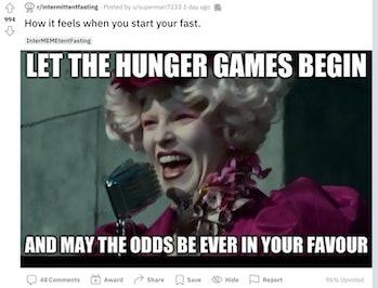 hunger games fasting meme