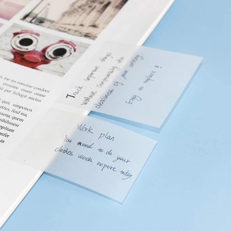 Multibey Transparent Sticky Notes Pad (500 Sheets)