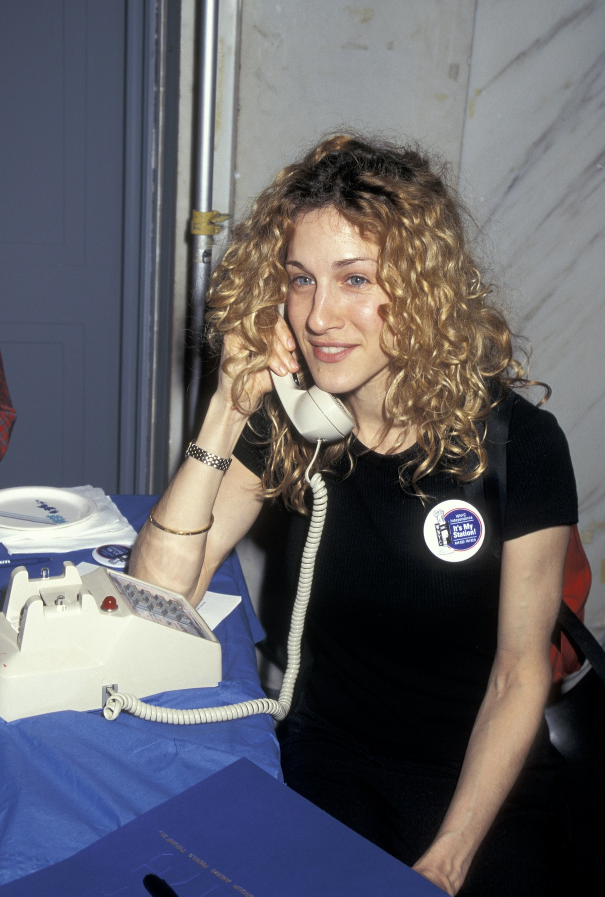 Sarah Jessica Parker, comrade, on the phone to support WNYC