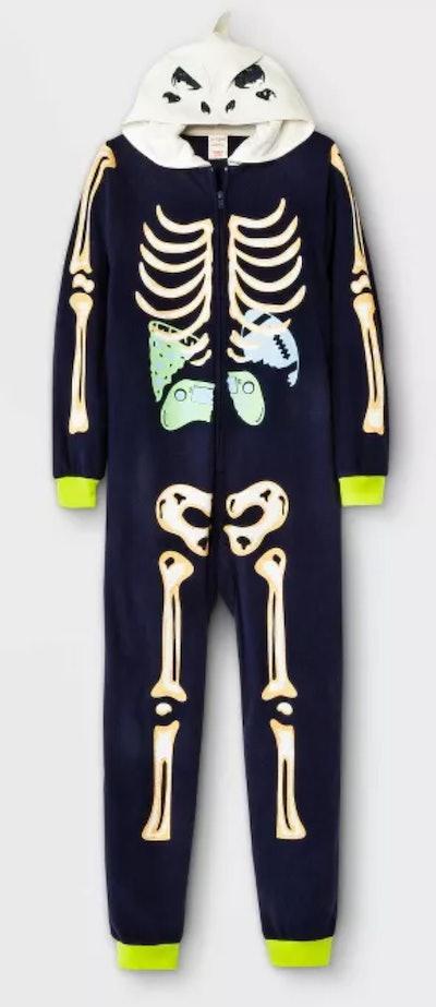 Dino Skeleton Pajama Jumpsuit