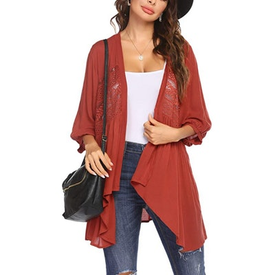 Hotouch Lace Lightweight Cardigan