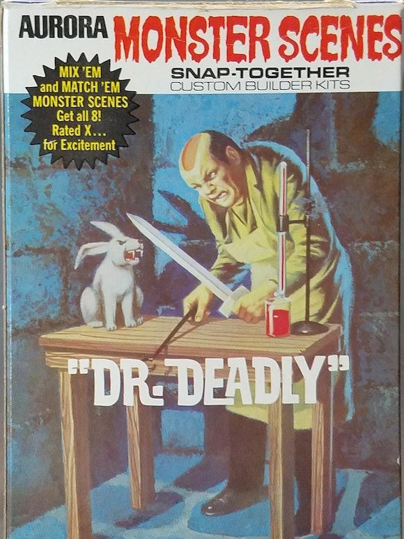 Dr. Deadly Monster Scenes model kit box