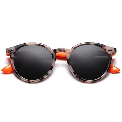 SOJOS Classic Round Polarized Sunglasses