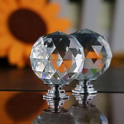 Sumnacon Crystal Glass Door Knobs (8-Piece)
