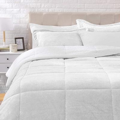Amazon Basics Micromink Sherpa Fleece Comforter Set (3 Pieces)