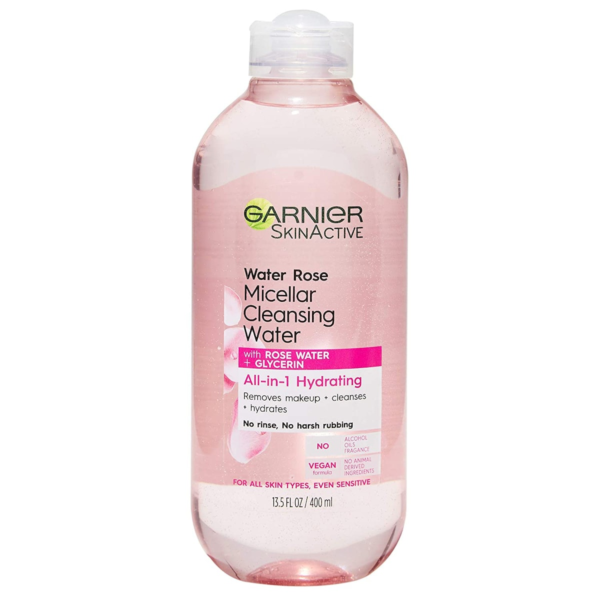 Garnier SkinActive Micellar Cleansing Water with Rose Water and Glycerin (13.5 Ounces)