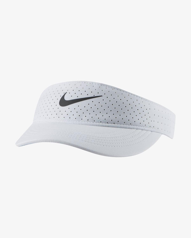 NikeCourt Advantage white tennis visor