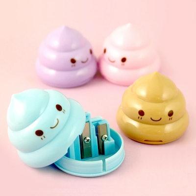 smiling poop pencil sharpener