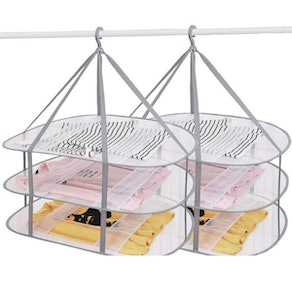 SNOMEL 3-Tier Clothes Drying Rack (2-Pack)