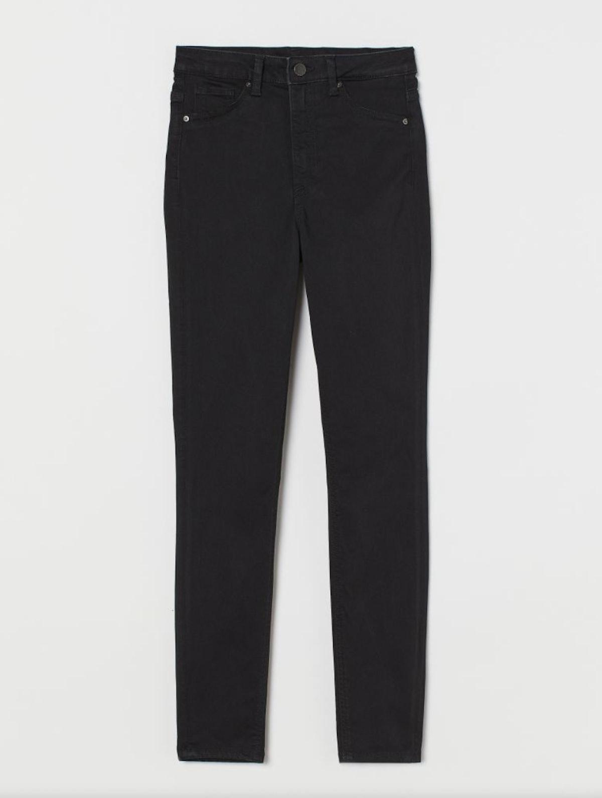H&M's Curvy High Waist Jeggings in black.