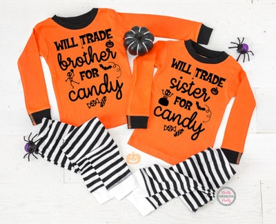 Will Trade Brother & Sister for Candy Halloween Pajamas