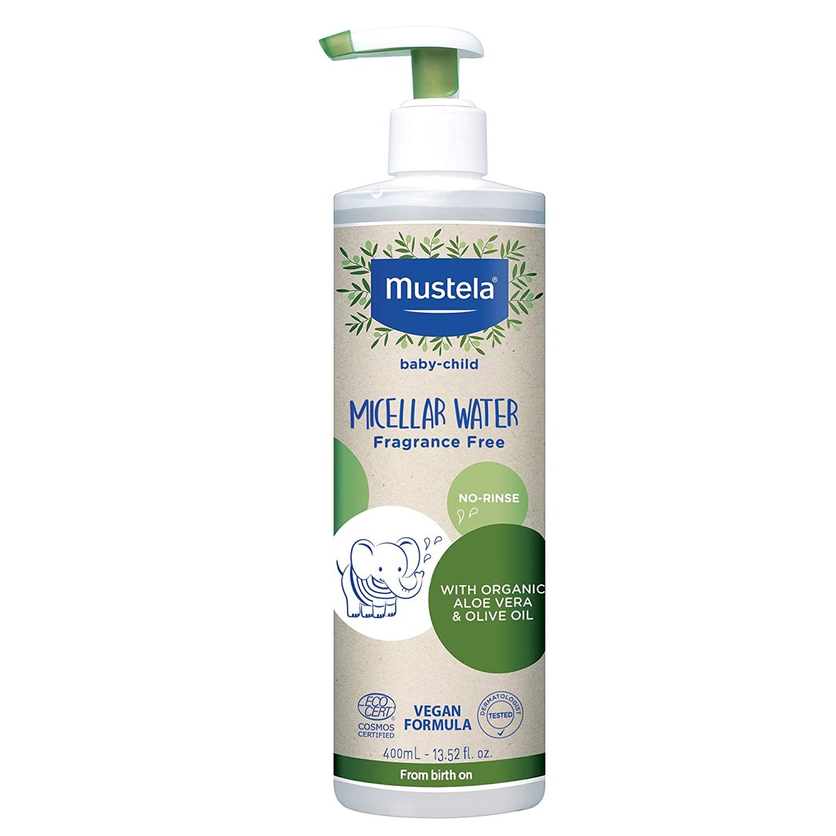 Mustela Baby Organic Micellar Cleansing Water (13.5 Ounces)