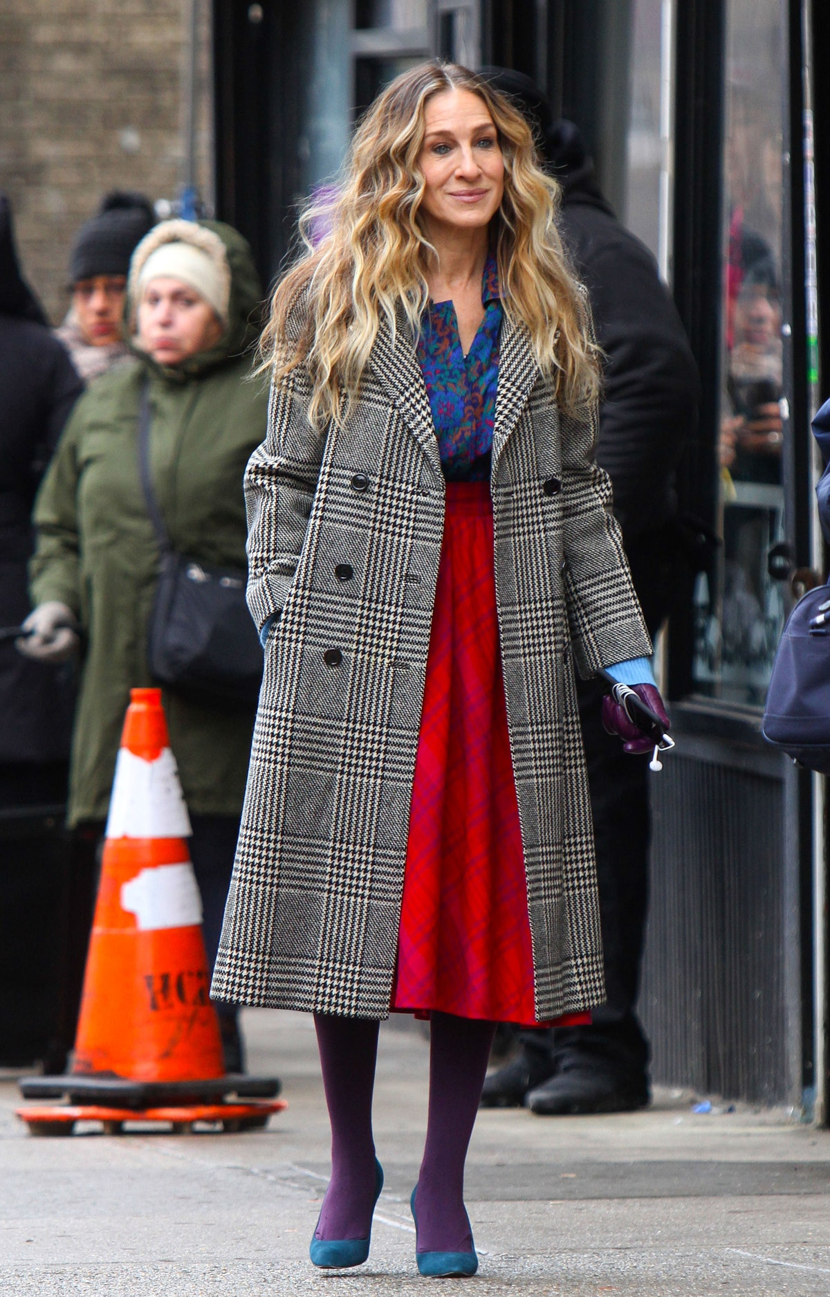 Sarah Jessica Parker on the set of 'Divorce'
