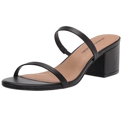 Amazon Essentials Two Strap Heeled Slide Sandal