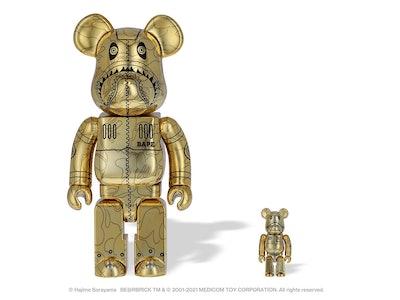 BAPE x Hajime Sorayama BE@RBRICK figurine