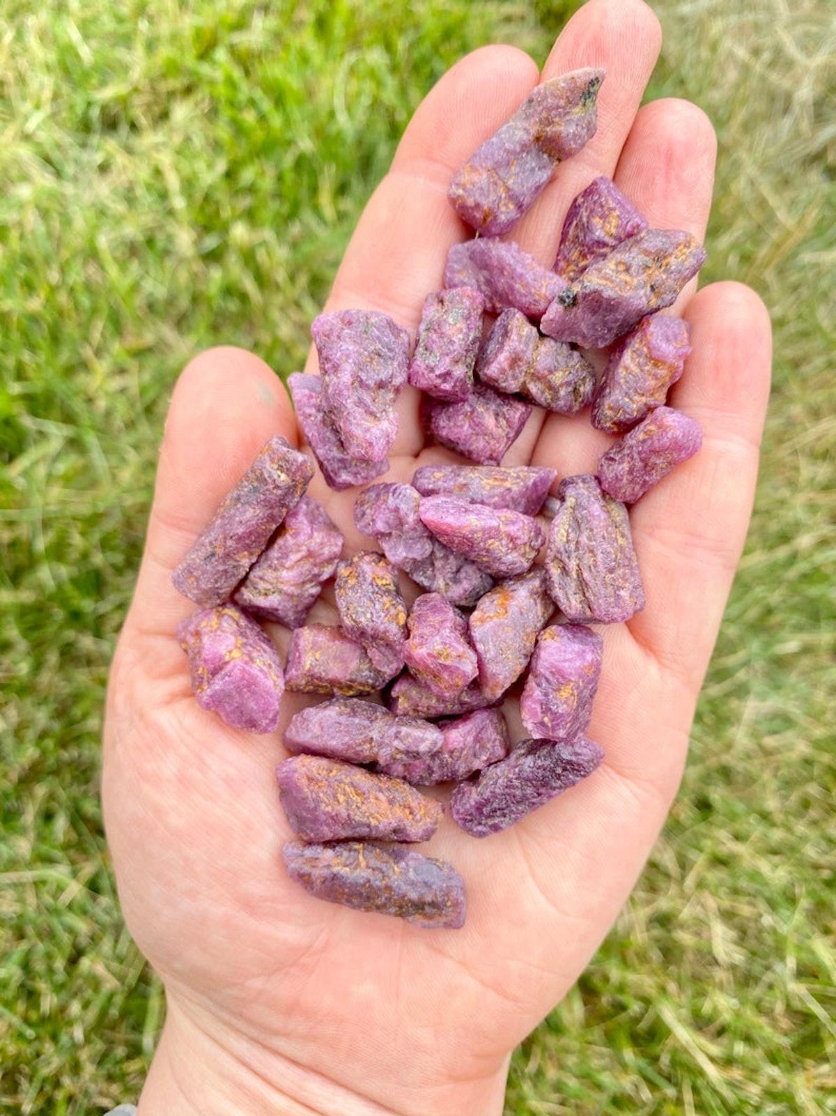 Raw Ruby Crystals