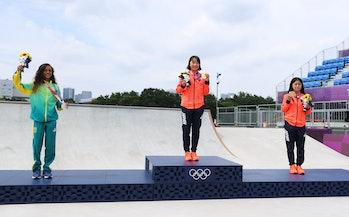 Women's Street Final medal ceremony