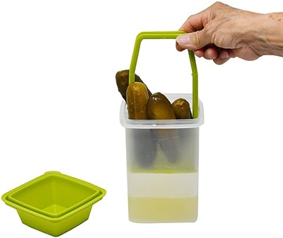 Home-X Pickle Storage Container with Strainer