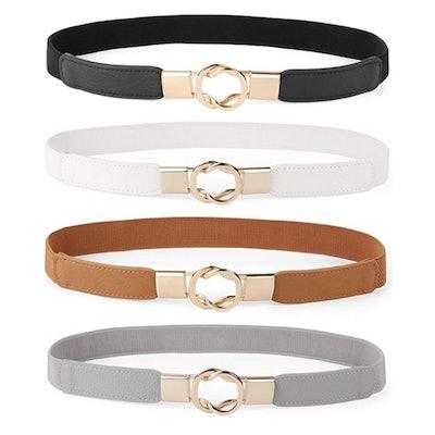 WERFORU Stretch Waist Belt (Set of 4)