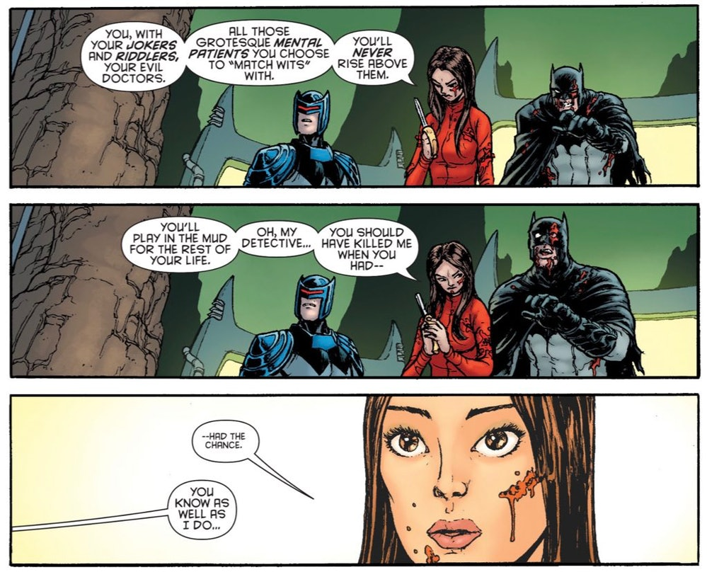 Batman Inc., art by Chris Burnam.