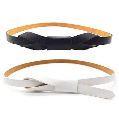 Maikun Adjustable Faux Leather Belts (2 Pack)