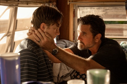 DREW STARKEY as RAFE and CHARLES ESTEN as WARD CAMERON in episode 206 of OUTER BANKS.