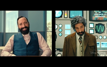 Tony Hale plays both Curtain and Benedict.